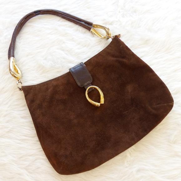 233dd164ea Vintage Bags   70s Susan Gail Brown Suede Hobo Bag   Poshmark